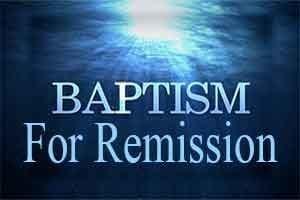 Baptism for Remission