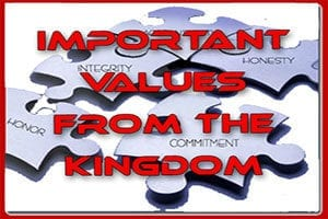 Important values from the kingdom