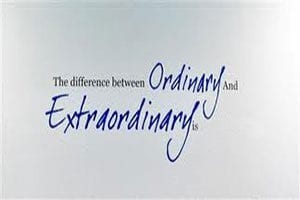 Ordinary or Extraordinary